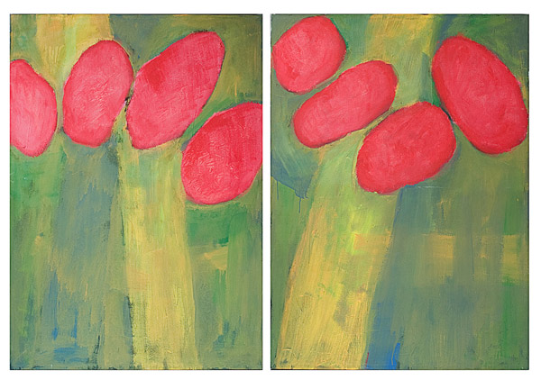 Poppies I & II by Kevin Brown(American Painting/Drawing)