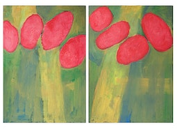 Poppies I & II by Kevin Brown