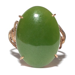 Dark Green Jadeite Ring