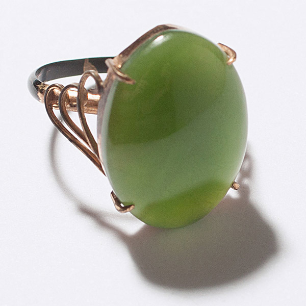 Dark Green Jadeite Ring(Chinese Jewelry)