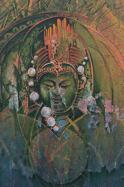 Garden Goddess With Planetary Alignment by Ron Kowalke(Hawaiian Painting/Drawing)