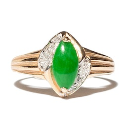 Jade & Diamond Ring