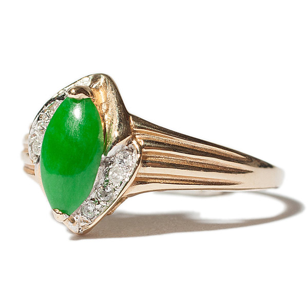 Jade & Diamond Ring(Chinese Jewelry)