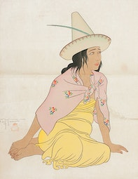 Young Girl of Jaluit, Marshalls  100/150 by Paul Jacoulet