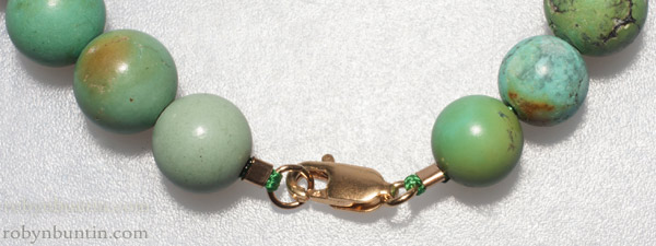 Turquoise Necklace with Jade Dragon & Peach Pendant(Chinese Jewelry)