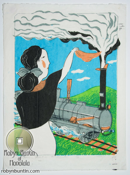 Victorian Invention, The Locomotive (23/30) by Mayumi Oda(Japanese Print)
