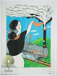 Victorian Invention, The Locomotive (23/30) by Mayumi Oda