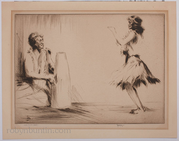 Hula Lesson, Hawaii by John Kelly(Hawaiian Print)