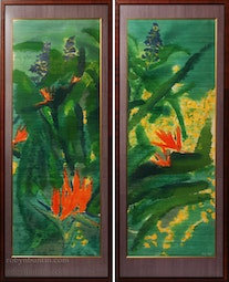 Wild In The Tropics Diptych by Andy Kay