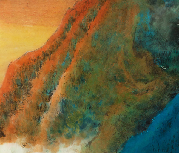 Burning Sunset by H. H. Wong 黃可鏗(Chinese Painting/Drawing)