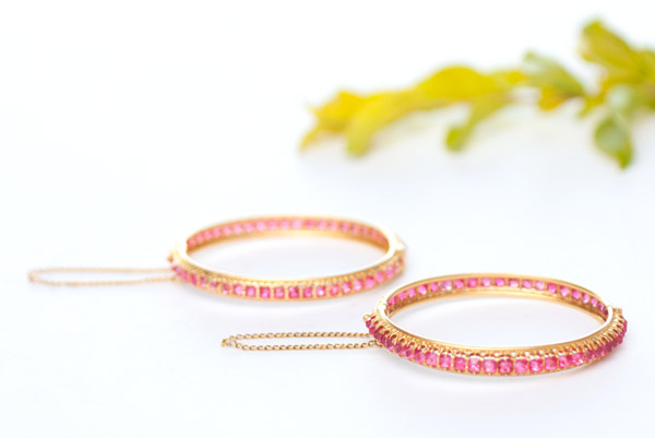 Pair of Ruby Bracelets(Chinese Jewelry)