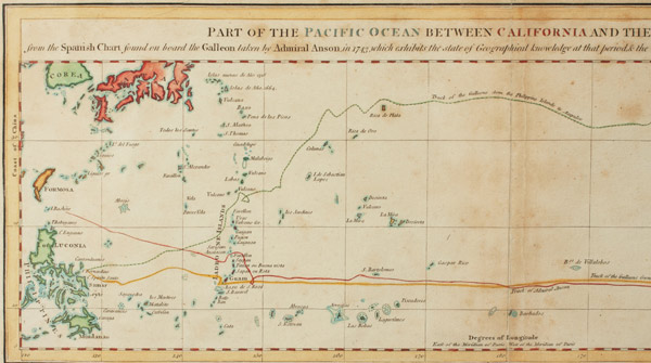 Part of the Pacific Ocean Between California and the Philippine Islands(European Print)