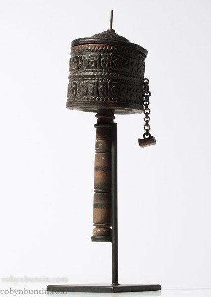 Tibetan Prayer Wheel(Tibetan & Himalayan Sculpture)