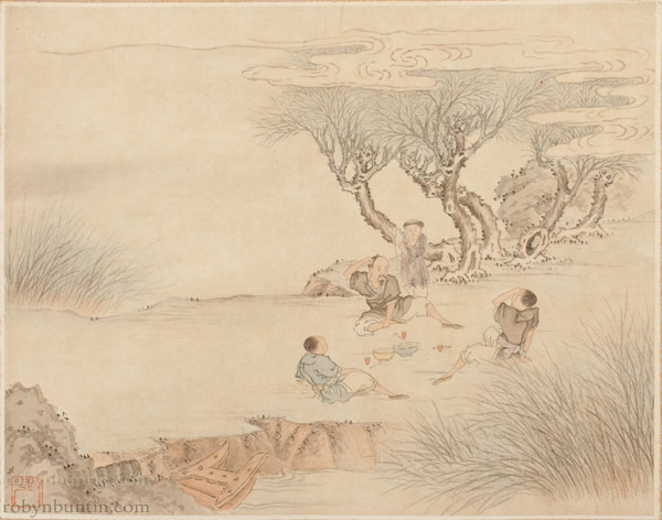 Pair of Paintings by Li Chang Shu(Chinese Scroll)