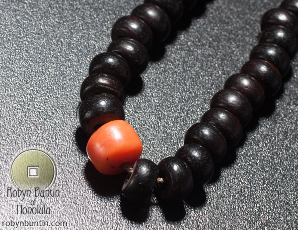 Coral & Wood Mala(Chinese Functional Object)