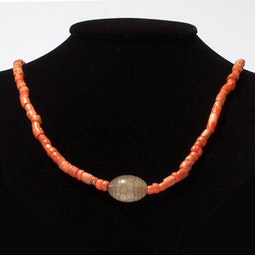 Coral & Jade Necklace