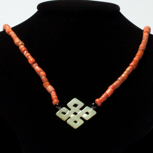 Coral & Jade Necklace(Tibetan & Himalayan Jewelry)
