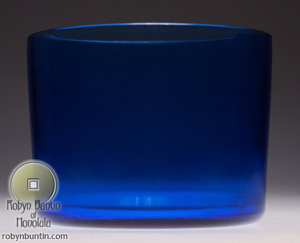 Blue Columnar Peking Glass Bowl(Chinese Functional Object)