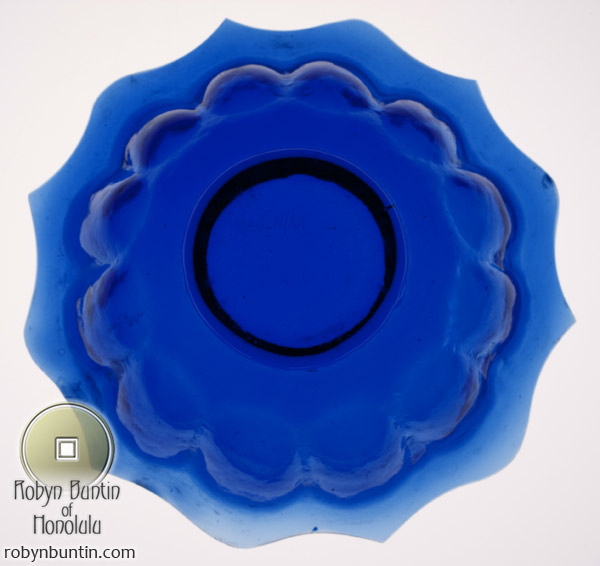 Blue Fluted Peking Glass Bowl(Chinese Functional Object)