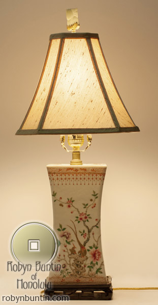 Famille Rose Lamp(Chinese Functional Object)