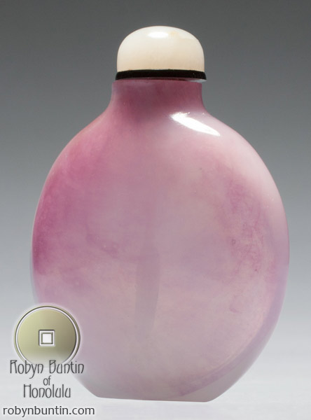 Pink Glass Snuff Bottle(Chinese Sculpture)