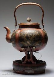 Copper Teapot with Warmer
