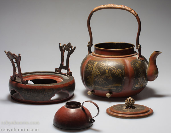 Copper Teapot with Warmer(Chinese Functional Object)