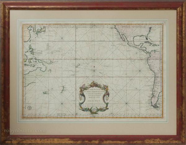 Map of the Pacific Ocean(European Print)