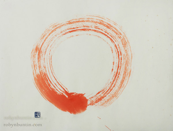 Red Enso by John Stevens(Japanese Painting/Drawing)