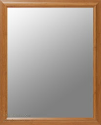 Beveled Mirror in Bamboo Frame