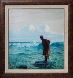 Throw Net Fisherman Giclee by Lionel Walden