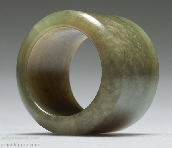 Spinach Jade Archer's Ring(Chinese Jade & Hardstone)