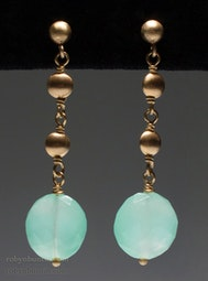 Chalcedony Earrings by Tomi