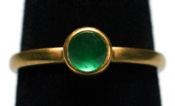 Emerald Stacking Ring by Tomi