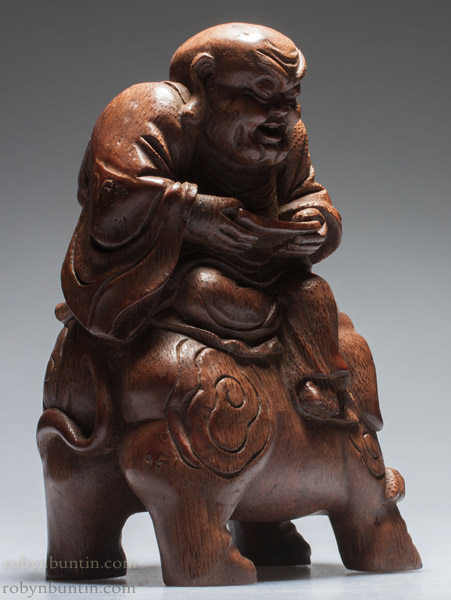 Monk as Samatabhadra(Chinese Sculpture)