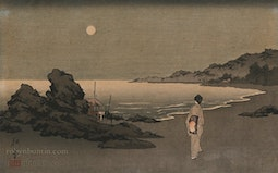 Beach at Night by Shoda Koho