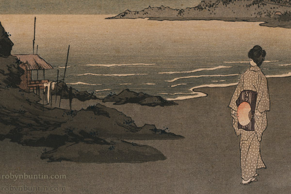 Beach at Night by Shoda Koho(Japanese Print)
