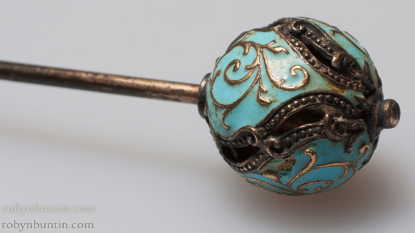 Cloisonne Hat Pin(Chinese Jewelry)
