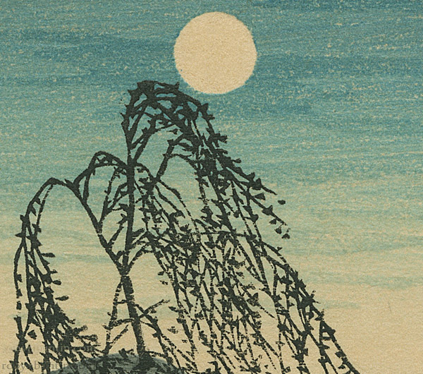 Autumn Moon at Tamagawa River by Shotei/Takahashi Hiroaki(Japanese Print)