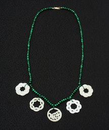 Malachite & White Jade Necklace