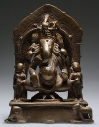 Bonze Ganesha with 2 Consorts