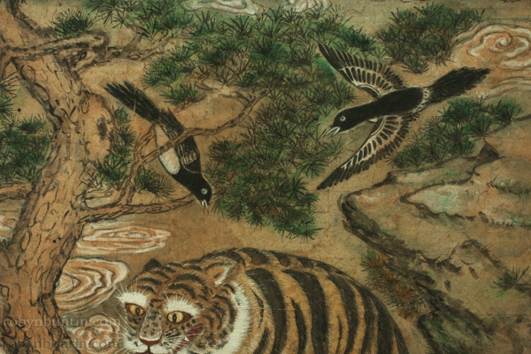 Family of Tigers(Korean Painting/Drawing)