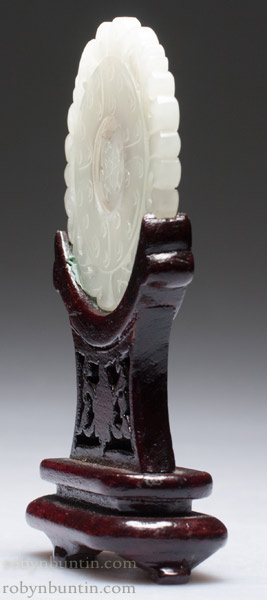White Jade Bi With Moveable Center(Chinese Jade & Hardstone)