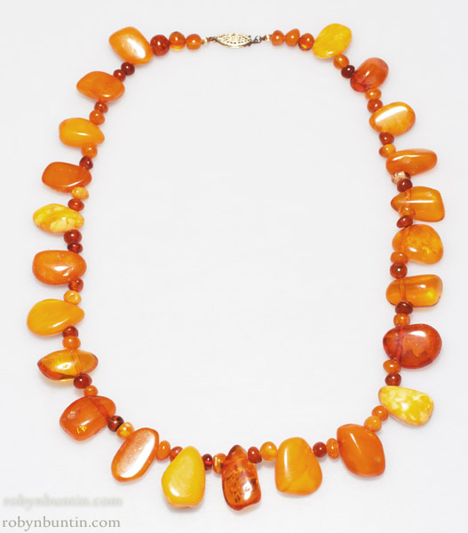 Baltic Amber Necklace(Chinese Jewelry)