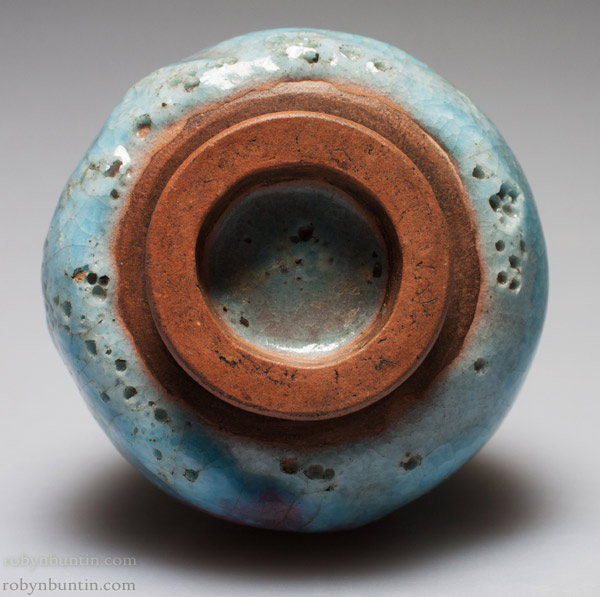 Miniature Robin Egg Blue Vase(Chinese Functional Object)