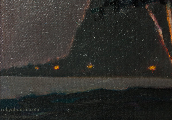 Kahana Bay At Night by Dennis Morton(Hawaiian Painting/Drawing)