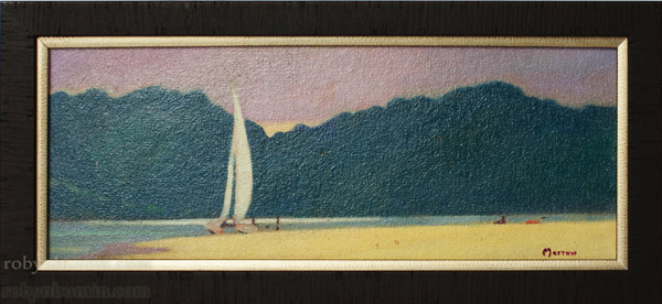 Sand Bar by Dennis Morton(Hawaiian Painting/Drawing)