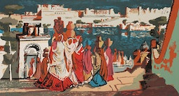 Palace of Udaipur - India by Millard Sheets