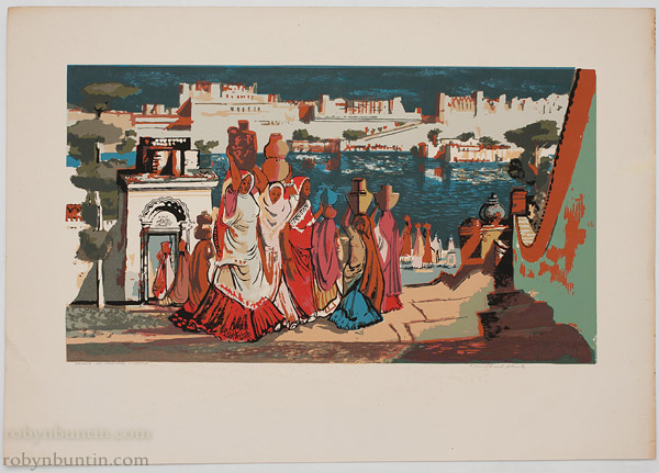 Palace of Udaipur - India by Millard Sheets(American Print)