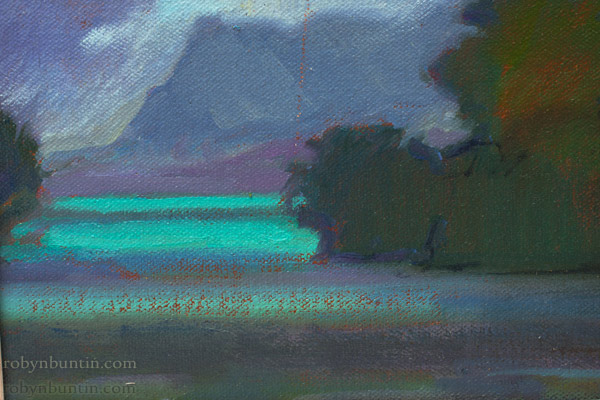 Moon Over Ula Mal, Kaneohe by Dennis Morton(Hawaiian Painting/Drawing)